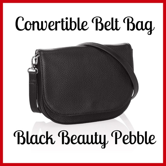 028041c8558e NWT***THIRTY-ONE*** Convertible Belt Bag BLACK Boutique